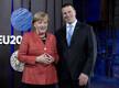 Angela Merkel 2017. aastal Eesti eesistumise ajal Tallinnas peaminister Jüri Ratasega.