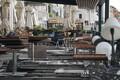 Tormi tõttu kahjustada saanud hotelli terrass Veneetsias.