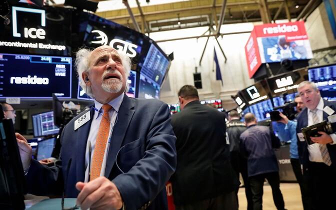Treider NYSE kauplemispõrandal.
