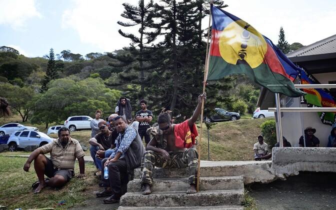 Uus-Kaledoonia iseseisvuse toetajad.