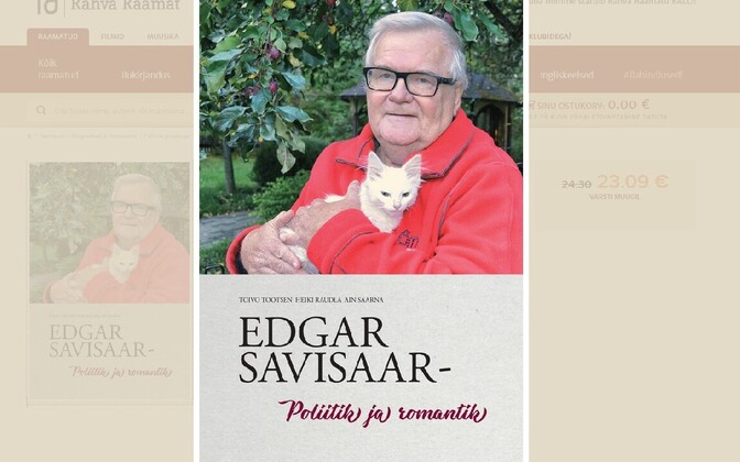 The cover of Mr Savisaar's new book, ''Politics and Romance'', available from all good bookstores and on Wednesday signed by the man himself at a public appearance.