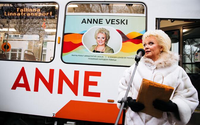 Трамвай с именем Анне Вески.