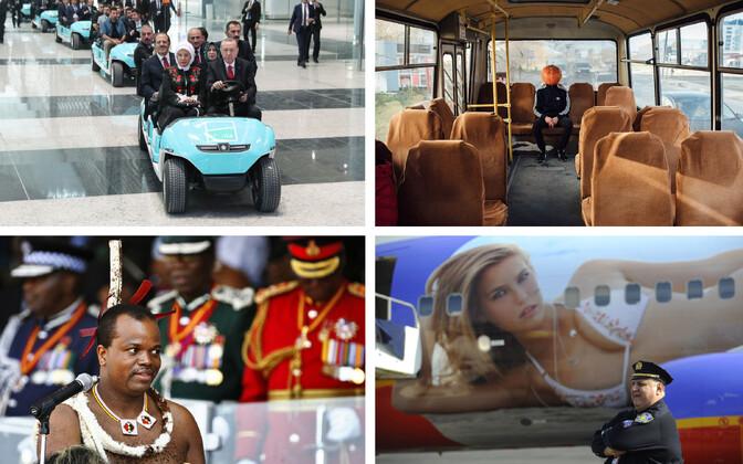 President Erdogan Istanbuli lennujaama avamas (AFP), Halloween Vene-moodi (Svetlana   Yerygina), Eswatini kuningas Mswati III (AFP), Iisraeli supermodell Bar Refaeli USA   reisilennukil (AFP).