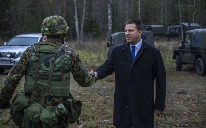 Prime Minister Jüri Ratas visited the snap exercise Okas 2018 on Friday. 2 November 2018.