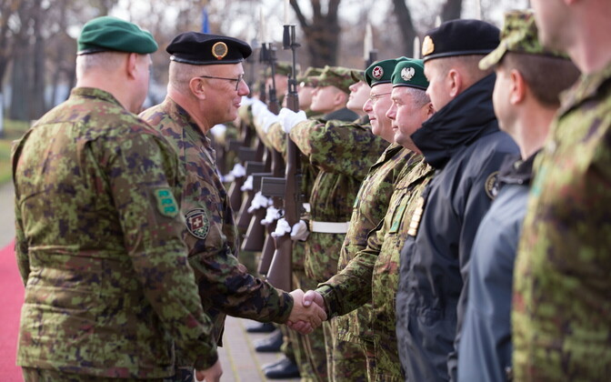 Chief of the Armed Forces of Switzerland Lt. Gen. Philippe Rebord on his visit to Estonia this week. 1 November 2018.
