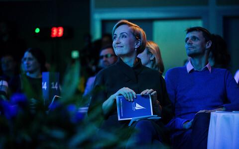 Chairwoman Kristina Kallas at the general meeting formally establishing Estonia 200 as a political party. November 2018.
