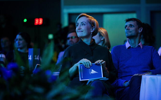 Chairwoman Kristina Kallas at the general meeting formally establishing Estonia 200 as a political party. November 2018.