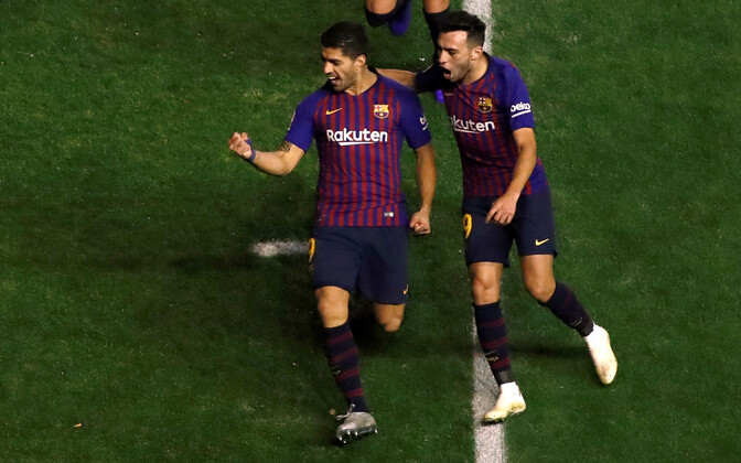 Luis Suarez tähistamas võiduväravat