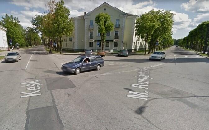 Перекресток улиц Кеск и Румянцева в Силламяэ.