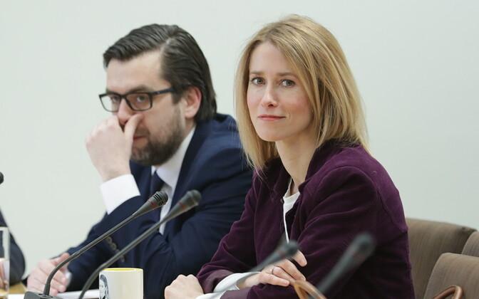 Керт Валдару и Кая Каллас.