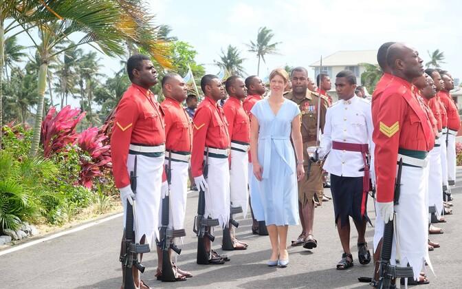 President Kaljulaid tänavu sügisel Fidžil.