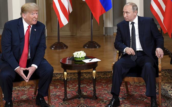 USA president Donald Trump ja Venemaa president Vladimir Putin suvel Helsingis.
