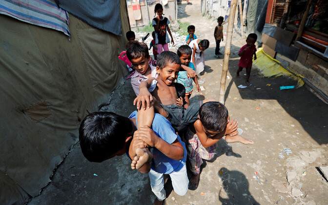 Myanmari rohingjad Indias New Delhis põgenikelaagris.