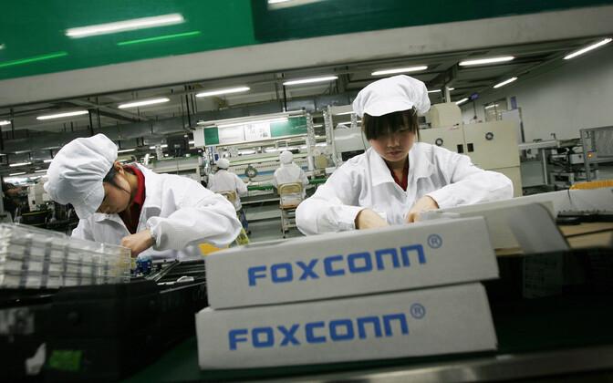 Foxconni töötajad Hiinas.