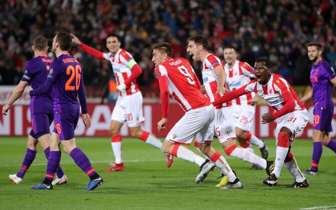 Belgradi Crvena zvezda alistas koduväljakul Liverpooli 2:0