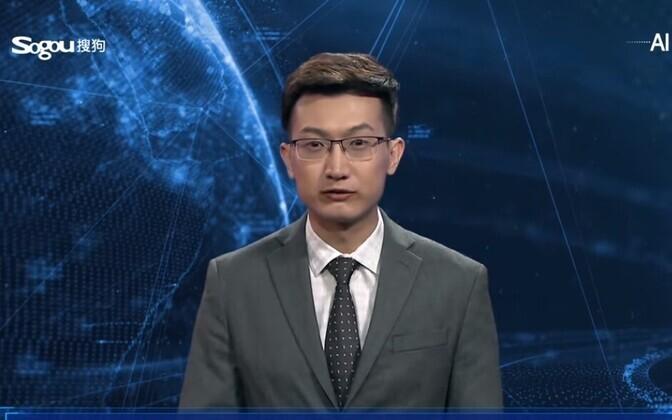 Телеведущего-робота показали в Китае на Всемирной конференции по управлению интернетом.