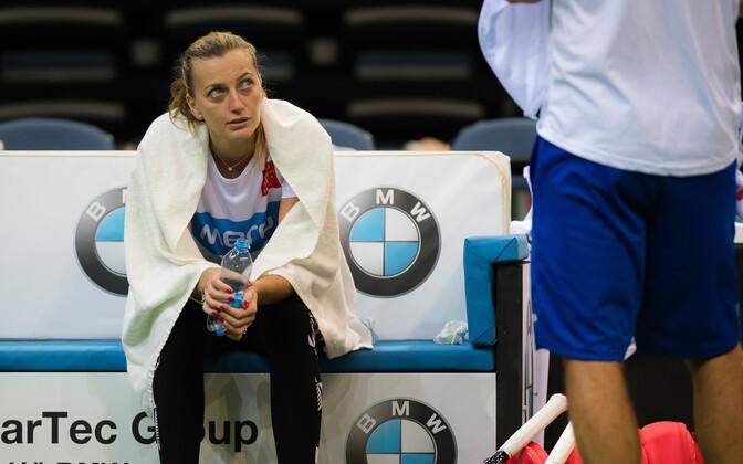 Petra Kvitova Tšehhi naiskonna treeningul.