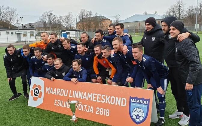 Команда из Маарду - победитель первой лиги.