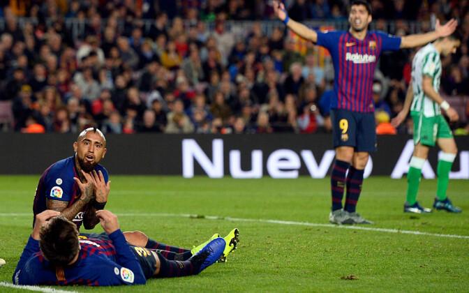 Barcelona sai Hispaania kõrgliigas esimese kodukaotuse