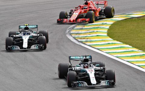 Lewis Hamilton, Valtteri Bottas ja Sebastian Vettel