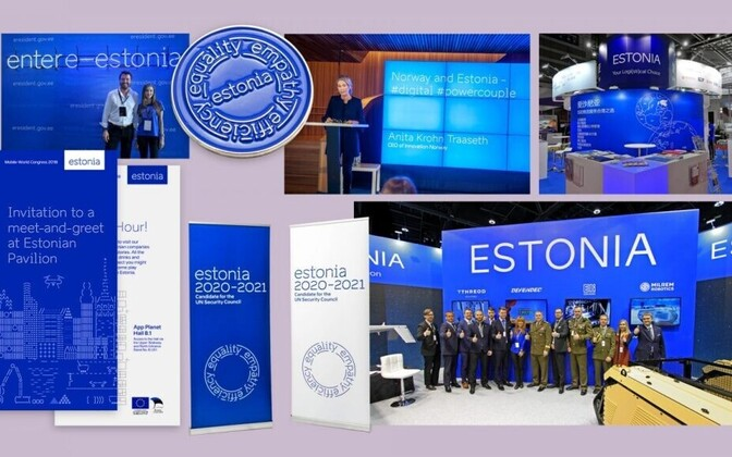 Estonia's national brand, as presented at the 2018 City Nation Place Awards.