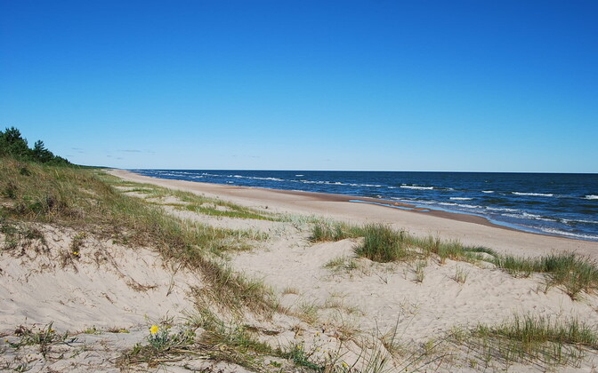 A beach on the northern Kurzeme peninsula in Latvia, ancestral home of the Livonian language, culture and people.