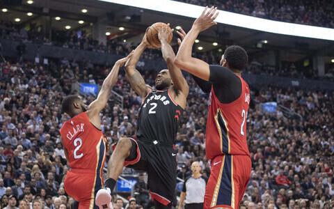 Ian Clark (Pelicans), Kawhi Leonard (Raptors), Anthony Davis (Pelicans)