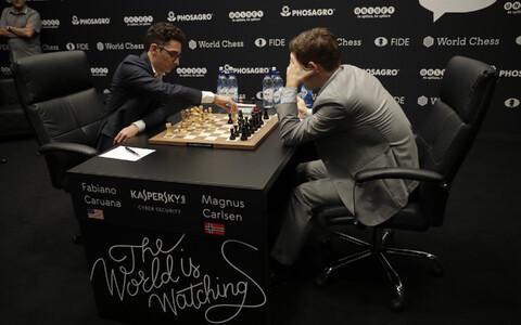 Fabiano Caruana ja Magnus Carlsen