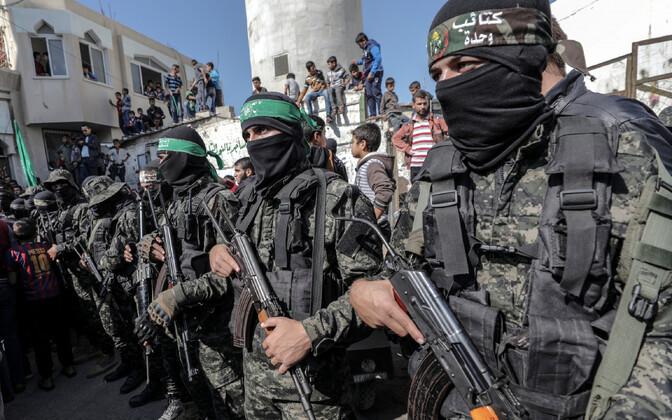 Hamasi võitlejate matused Gaza sektoris 12. novembril.