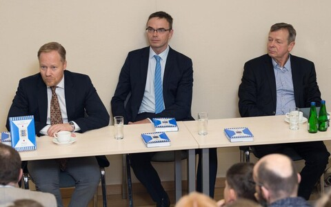 Minister of Foreign Affairs Sven Mikser (SDE) at a book presentation at the University of Tartu on Tuesday. 13 November 2018.