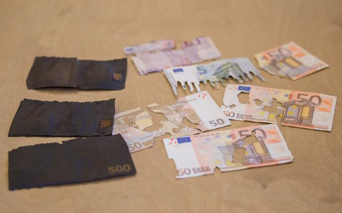 Kahjustada saanud pangatähed