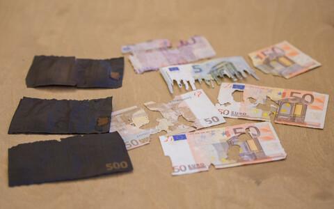 Испорченные денежные знаки.