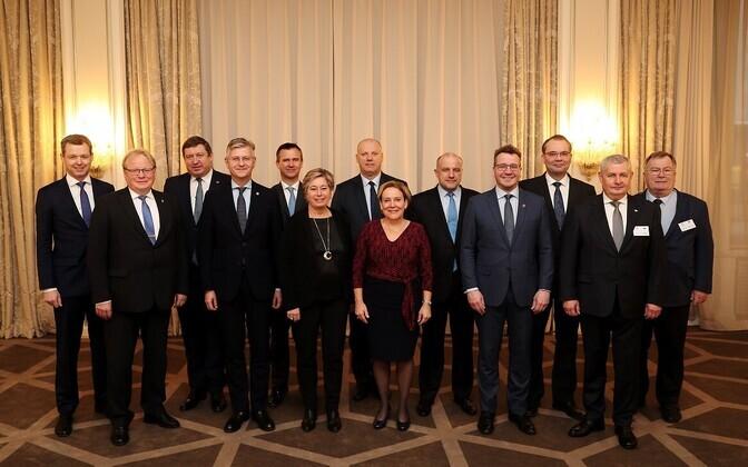 Põhjala Grupi kaitseministrid kohtumisel Oslos.