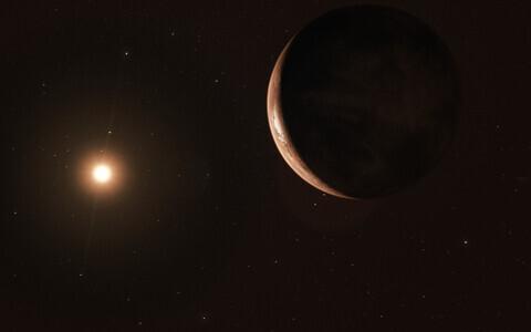 Barnard's Star b kunstniku nägemuses.