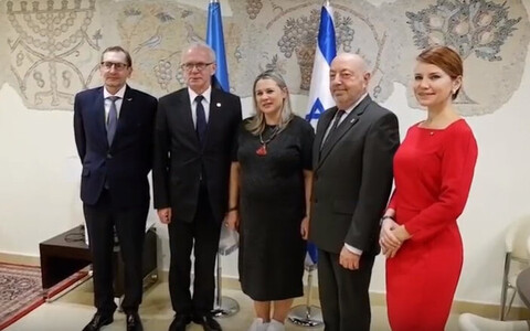 Estonian Riigikogu delegation visiting the Knesset in Israel. 14 November 2018.