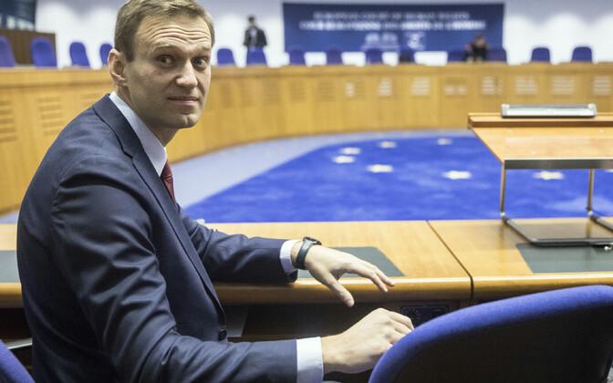 Алексей Навальный в зале суда ЕСПЧ