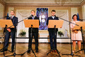 Sven Misker, Jüri Ratas, Urmas Reinsalu ja Mailis Reps pressikonverentsil