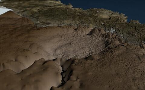 Kraatri läbimõõt on ligikaudu 31 kilomeetrit.