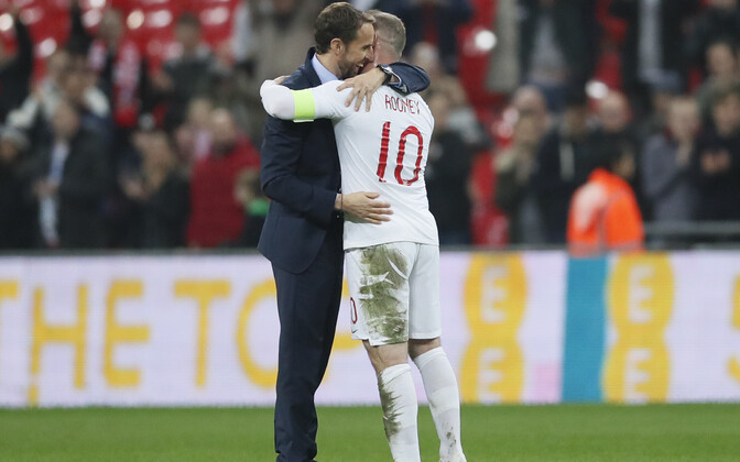 Wayne Rooney ja Inglismaa koondise peatreener Gareth Southgate