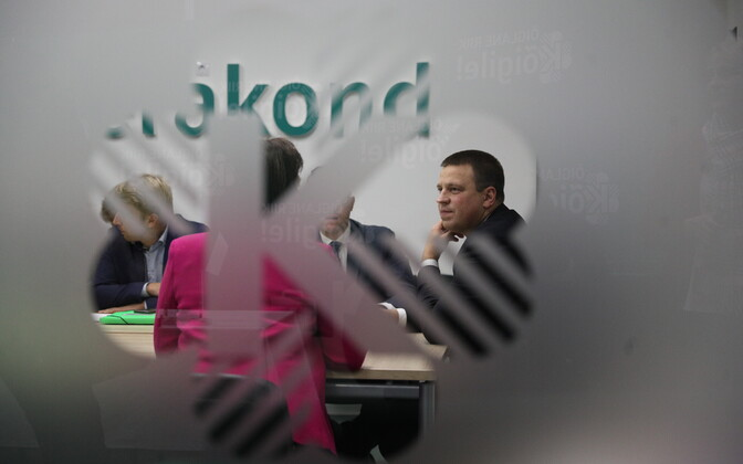 Peaminister Jüri Ratas Keskerakonna juhatuse koosolekul