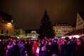 Открытие Рождественского рынка на Ратушной площади в Таллинне.