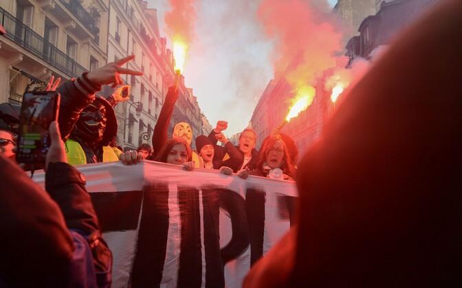 Protestijad Pariisis.