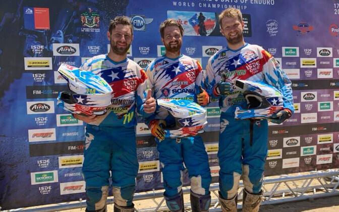 Ivo Steinbergs (vasakult), Elary Talu ja Martin Leok.