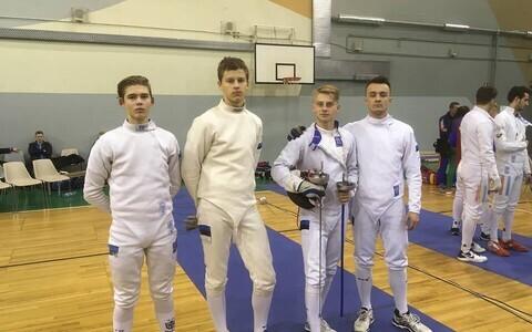 Eesti juunioride epeemeeskond koosseisus Andzej Gedzo, Ilian Bobrov, Henrik Priimägi ja Kasper Tafenau