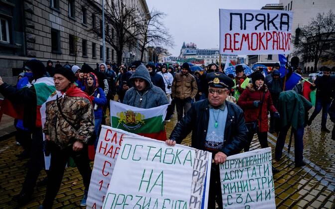 Protestijad Sofias.