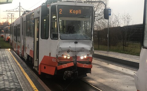 Авария трамваев в Копли.