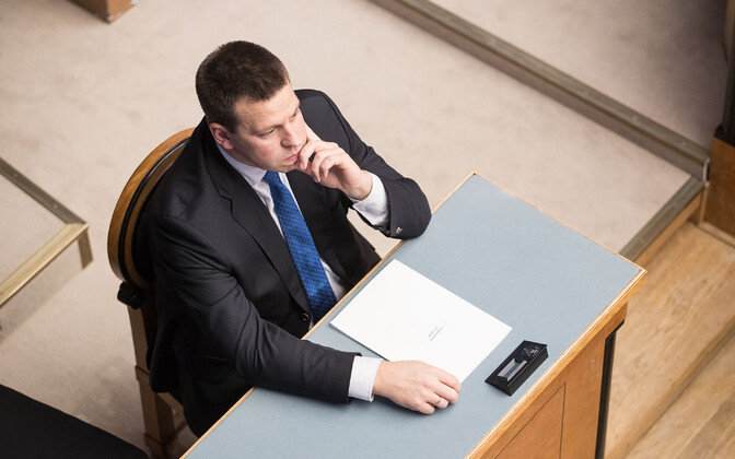 Prime Minister Jüri Ratas in the Riigikogu, 19 November 2018.