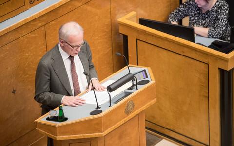 Заседание Рийгикогу, 19 ноября. Заявление по миграционному пакту.