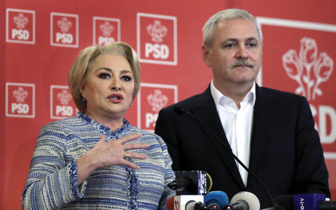 Rumeenia peaminister Viorica Dancila ja valitsuspartei juht Livi Dragnea.