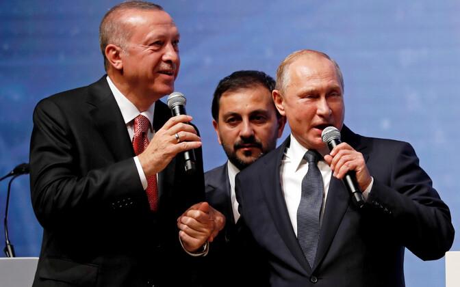 Erdogan ja Putin 19. novembril Istanbulis.